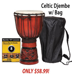 X8 Drums Celtic Labyrinth Djembe Sale